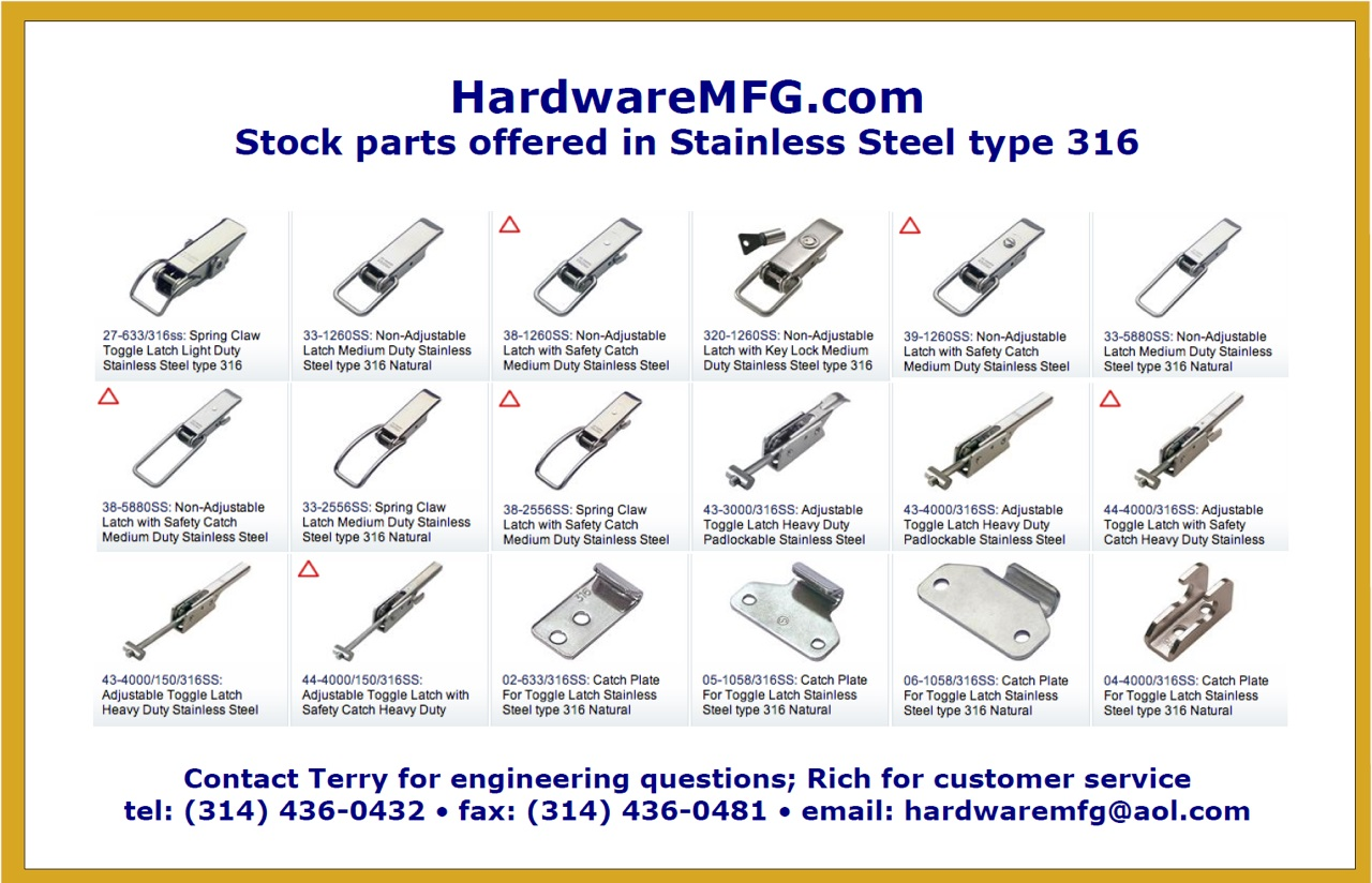 316 Stainless Steel Latches
