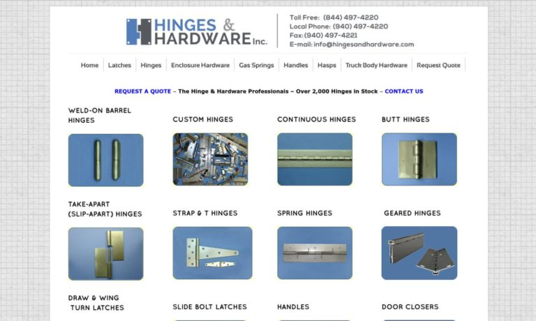 Hinges and Hardware Inc.